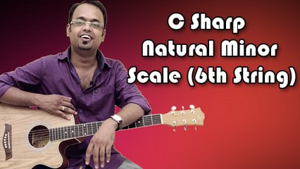 How To Play - C Sharp Natural Minor Scale (6th String) - Guitar Lesson For Beginners