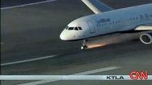 Jet Blue Airbus nose gear failure on landing