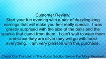 MESH BALL DROP SILVER EAR Fashion Forward Wire Wrapped Silver Tone Drop Earrings Review