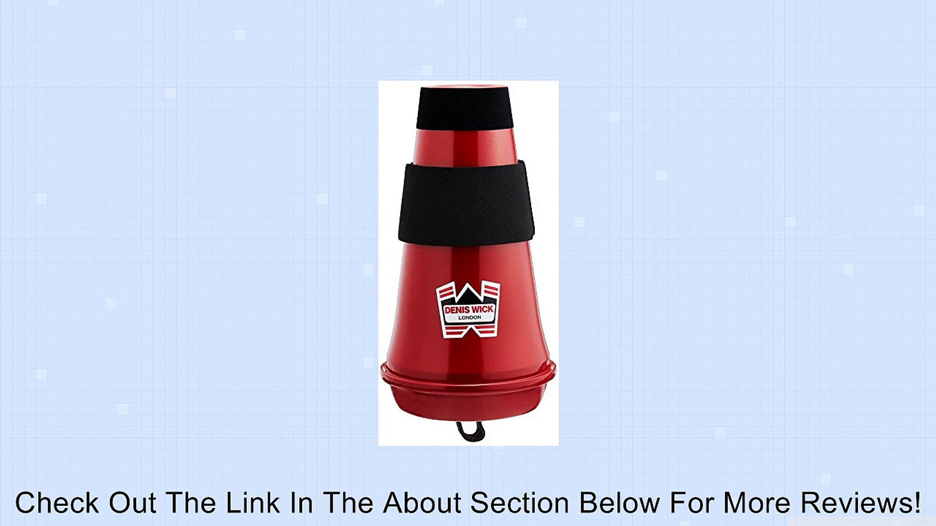 Denis Wick DW5587 Euphonium Red Aluminum Travel Mute