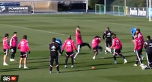 Cristiano Ronaldo Kung Fu Kick vs Marcelo on Real Madrid Training 2015 HD