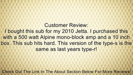 Alpine SWS10D4 / SWS-10D4 / SWS-10D4 Type-S 10 Car Subwoofer Review