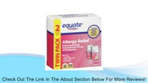 Equate Diphenhydramine Hydrochloride Antihistamine TWINPACK Allergy Relief 25mg, 200ct Compare to Benadryl Ultratab Review