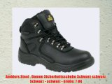 Amblers Steel  Damen Sicherheitsschuhe Schwarz schwarz Schwarz - schwarz - Größe: 7 UK