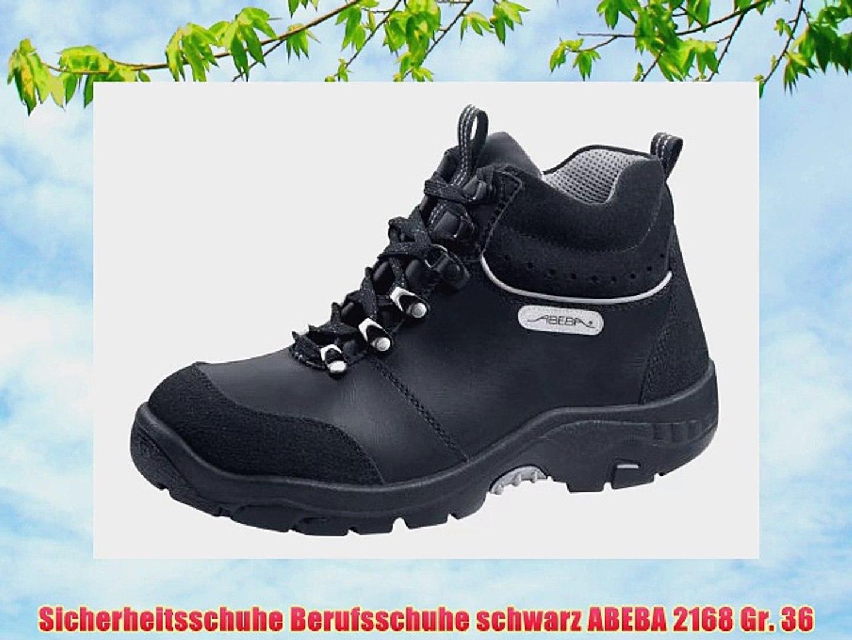 Sicherheitsschuhe Berufsschuhe schwarz ABEBA 2168 Gr. 36