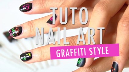 Un Nail Art graffiti - Tuto Make Up