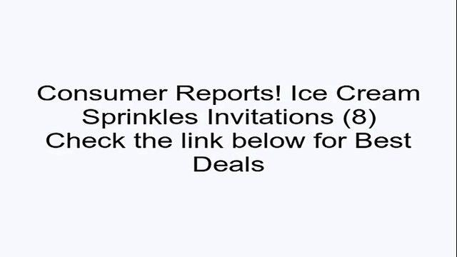Ice Cream Sprinkles Invitations (8) Review