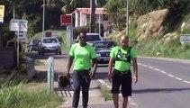 2014/12/31 11h26 Défi +50Km de Marche Coach Mickael Plocoste Solidarité Paix Guadeloupe Départ 7h10 Hôtel-de-Ville Baie-Mahault Arrivée 14h40 Mairie Saint-François Mercredi 31 Décembre 2014
