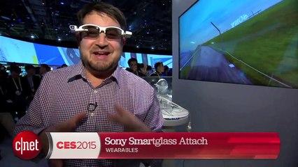 CES 2015 : Sony Smartglass Attach, où comment transformer n'importe ses lunettes en Google Glass.