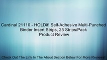 Cardinal 21110 - HOLDit! Self-Adhesive Multi-Punched Binder Insert Strips, 25 Strips/Pack Review