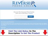 Don't Buy Reverse Phone Check Reverse Phone Check Review Bonus + Discount