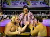 Big John Studd vs Ron Bass Arm Wrestling with Terry Allen and Ernie Ladd (Florida)