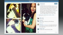 Olivia Munn's Puppy Buries Himself in Her Cleavage--Can You Blame Him?