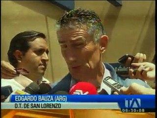 Bauza visitó el entrenamiento de Liga de Quito