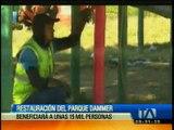 Restauración del parque Dammer 1 en Quito beneficiará a 15 mil personas