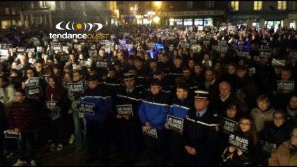 Charlie Hebdo, Bernay a rendu hommage au policier normand Franck Brinsolaro