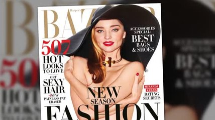 Topless Miranda Kerr Says She Quite Likes Being Naked