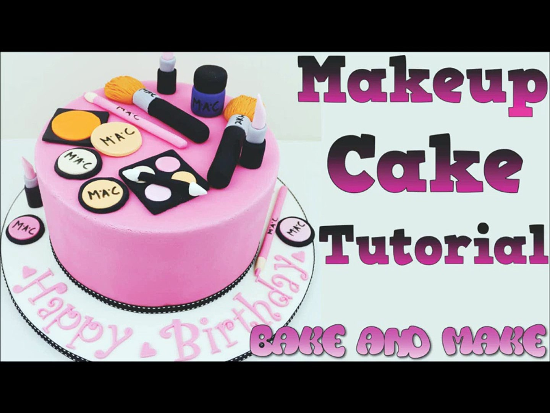 How to make a makeup cake tutorial. Bake and Make with Angela Capeski