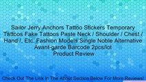 Sailor Jerry Anchors Tattoo Stickers Temporary Tattoos Fake Tattoos Paste Neck / Shoulder / Chest / Hand /, Etc. Fashion Models Single Noble Alternative Avant-garde Barcode 2pcs/lot Review