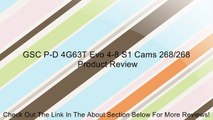 GSC P-D 4G63T Evo 4-8 S1 Cams 268/268 Review
