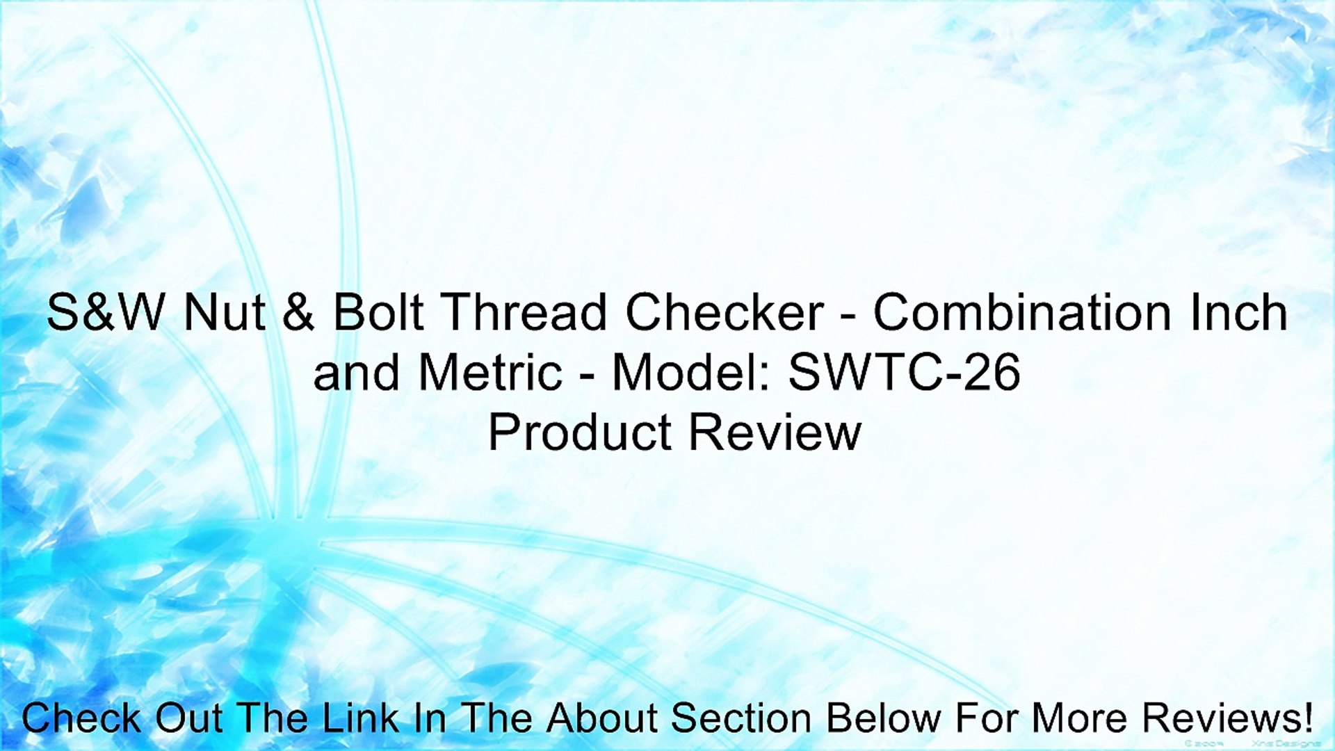 Inch /& Metric Original Version SWTC-26 Nut /& Bolt Thread Checker 2 Pack
