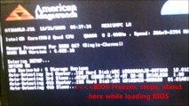 BIOS Freezes. BIOS Hangs part way through boot up
