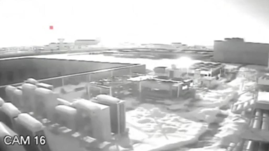Security cameras capture fireball exploding over Romania