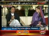 KHARA SACH Mubashir Luqman and Guest Chairman PTI Imran Khan ,Wife Reham Khan