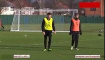 Steven Gerrard fantastic goal in Liverpool training 2015