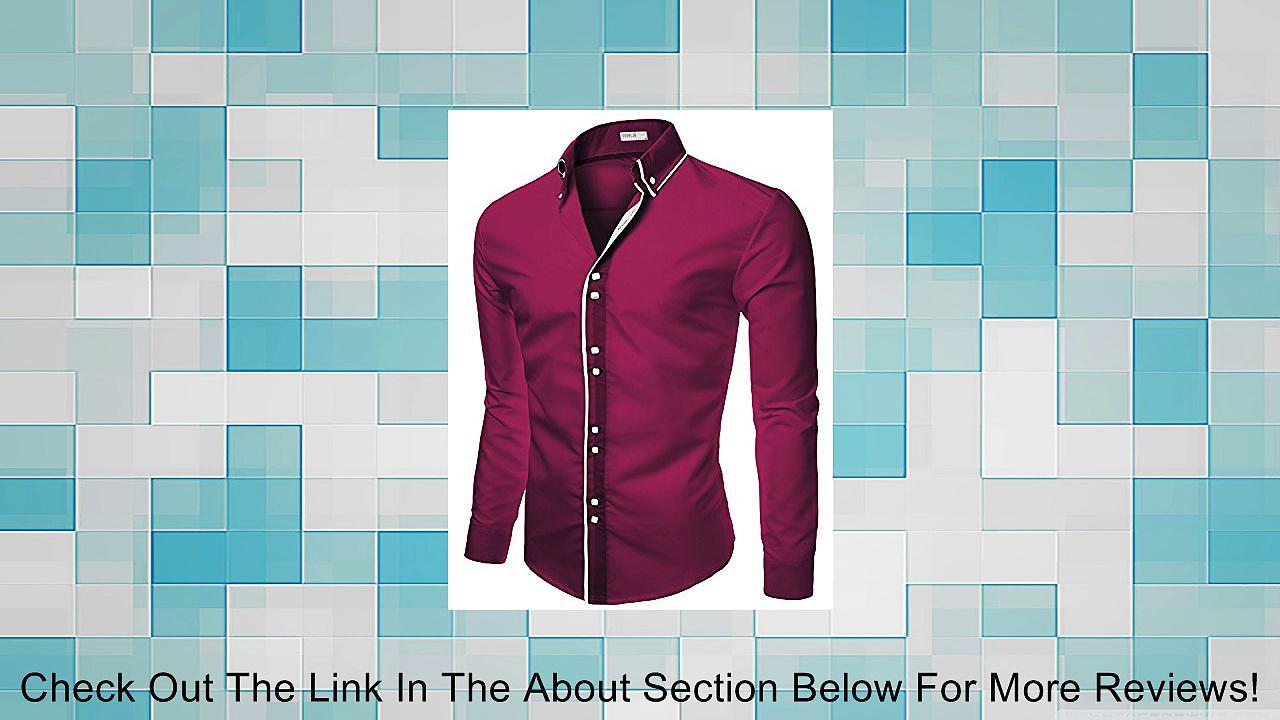 Doublju Mens Dress Shirts with Unique Detail Review