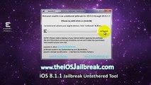 iOS 8.1.2 Evasion officiel Tutoriel complet Jailbreak Untethered iPhone, iPad iPod Touch