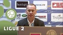 Conférence de presse ESTAC Troyes - Stade Brestois 29 (1-0) : Jean-Marc FURLAN (ESTAC) - Alex  DUPONT (SB29) - 2014/2015