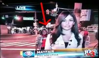 HOT REPORTER GETS HUMPED!!