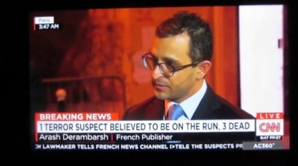 Interview de Arash Derambarsh avec Anderson Cooper sur CNN