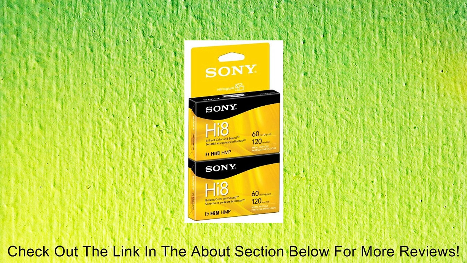 Discontinued by Manufacturer 8mm 2-Pack Sony Camcorder Cassettes High Grade 120 Minute