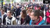 [TARBES] La foule se rassemble à Tarbes (11 janvier 2015)