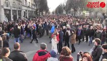 Au moins 100000 Rennais manifestent pour Charlie à Rennes