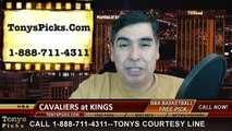 Sacramento Kings vs. Cleveland Cavaliers Free Pick Prediction NBA Pro Basketball Odds Preview 1-11-2015