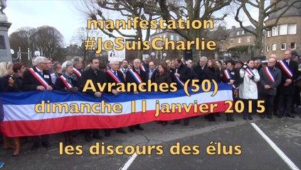 manifestation #JeSuisCharlie à Avranches : discours des élus - dimanche 11 janvier 2015