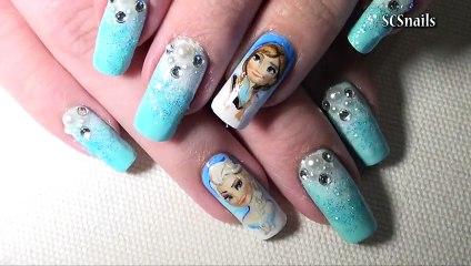 Disney Inspired; Frozen Nail Art - Tutorial_Timelapse