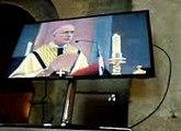 Mgr Batut à la cathedrale de  Blois pour son intronisation le 11 janv 2015