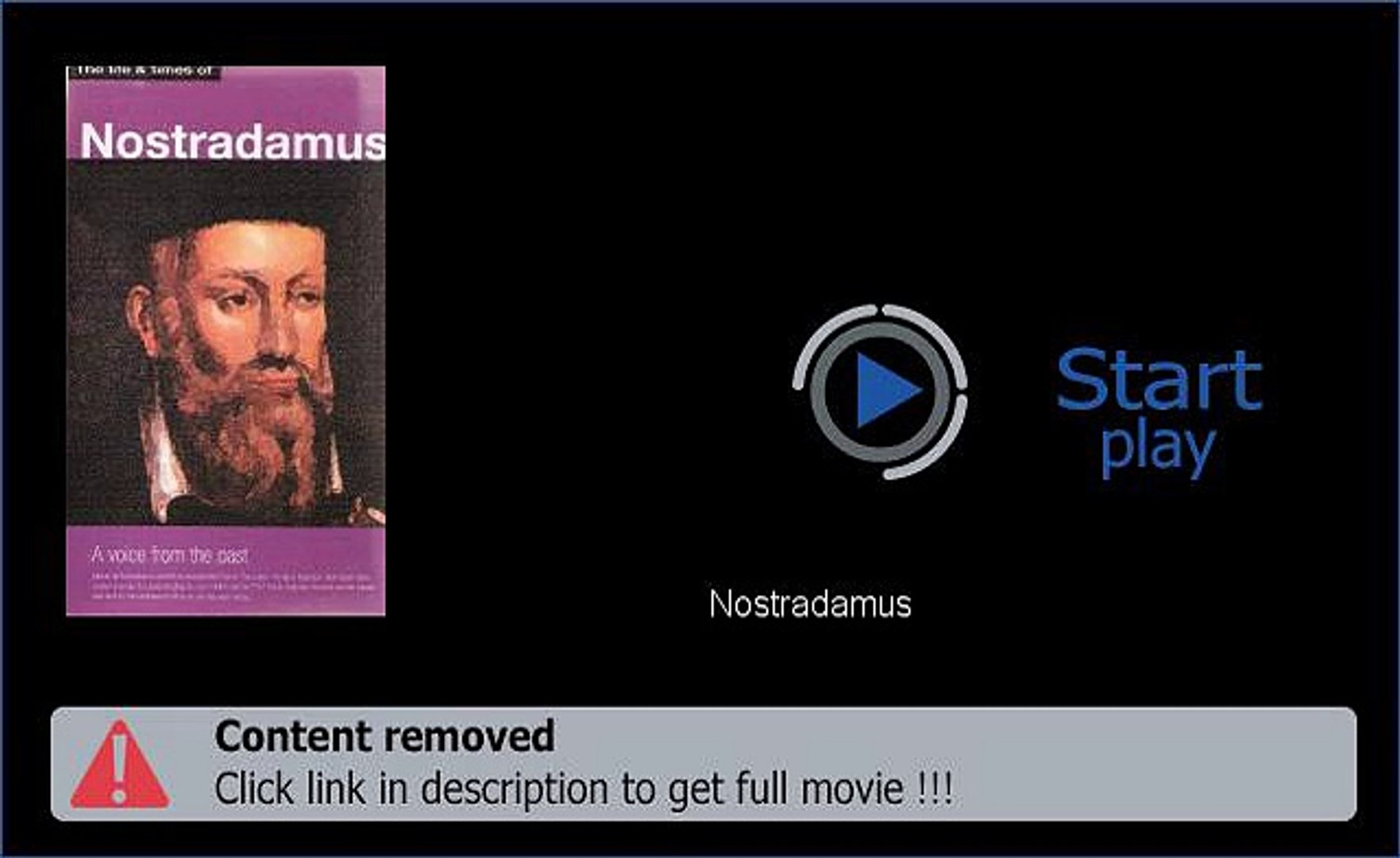 Play Nostradamus Movie Download Now