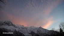 Time lapse Chamonix Aiguille du Midi Mont-Blanc