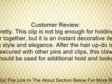 Silver Metal Rhinestone Claw Clip, 1 1/2 Inches Review
