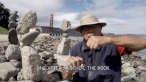Rock Balancing - A guy defies gravity by balancing rocks