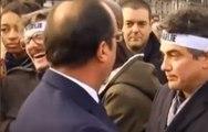 Fou rire après la chute d'une fiente de pigeon sur Hollande