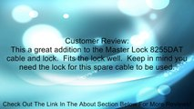 Master Lock 8256DAT Spare Cable for Integrated Cable and Lock Review