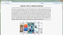 Télécharger Evasion 8.1.2 Jailbreak Untethered iOS complet 7 iPhone iPod Touch iPad