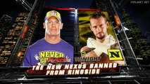 John Cena vs CM Punk, WWE Monday Night RAW 17.01.2011 - NEXUS banned from ringside