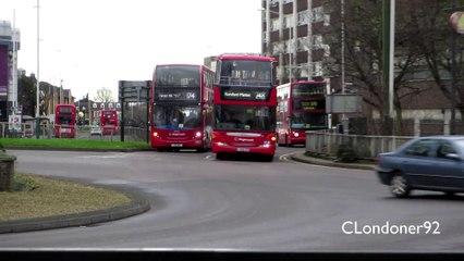London Buses at Romford, East London 12-01-15